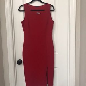 NEW Red (HOT) Midi Sleeveless Dress